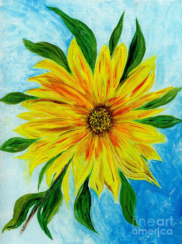 Sunflower Art Print featuring the painting Sunflower Sunshine Of Your Love by Anne Gitto
