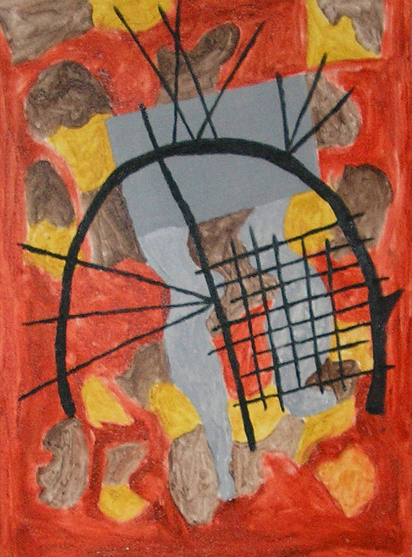 Contemporary Art Print featuring the painting The Broken Circle by Harris Gulko