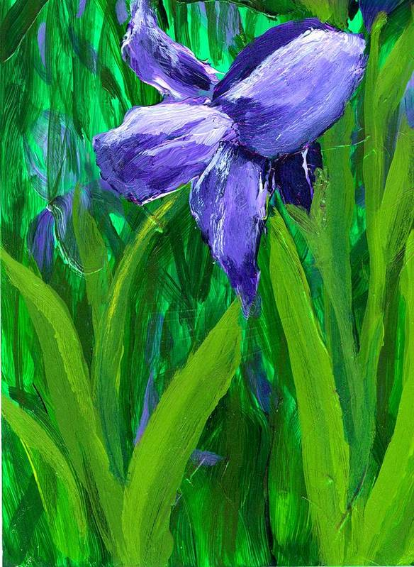 Purple Art Print featuring the painting The Color Of Royalty by Wanda Pepin