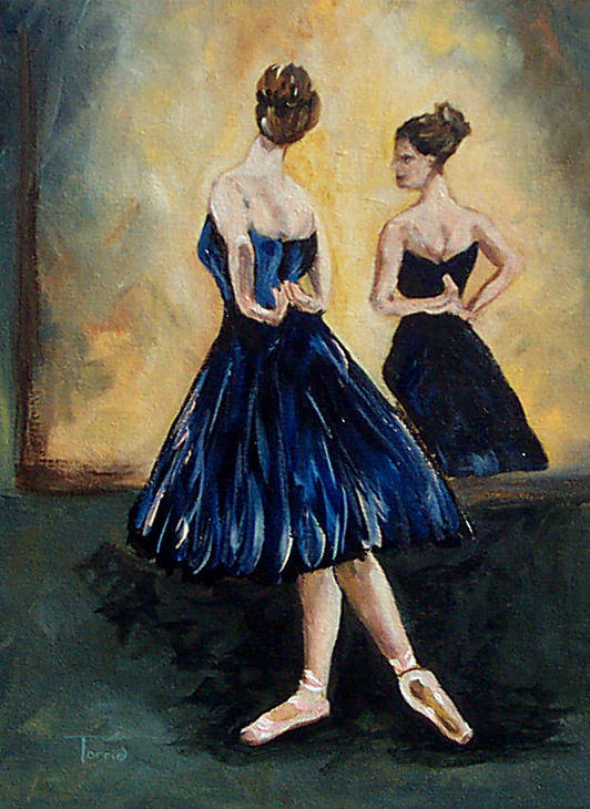 Ballet Art Print featuring the painting The Dancer by Torrie Smiley