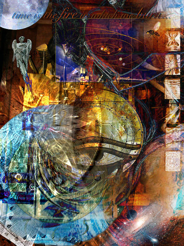 Digital Art Print featuring the digital art The Embers Of Memory by Kenneth Armand Johnson