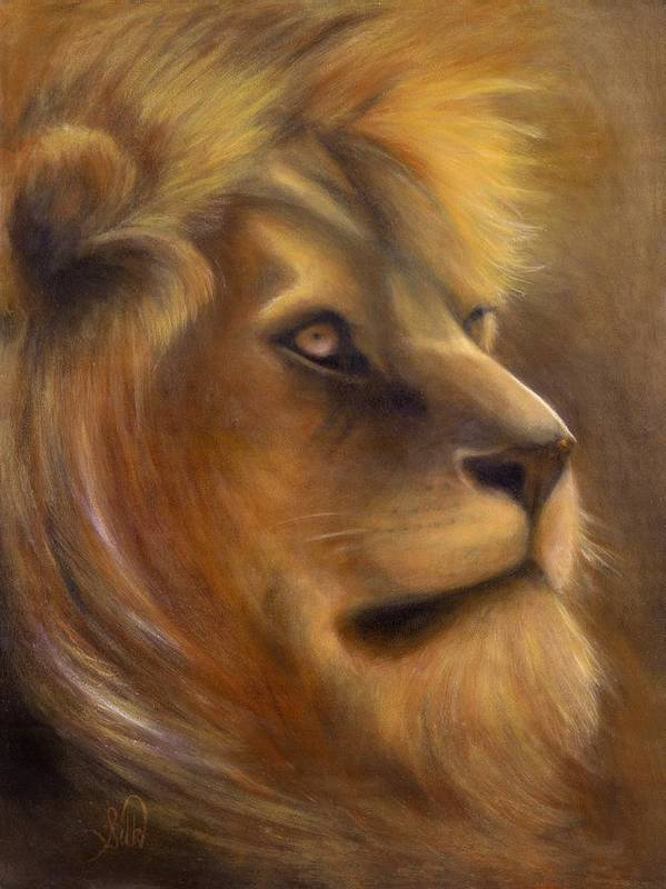 Regal Art Print featuring the painting The King by Elizabeth Silk