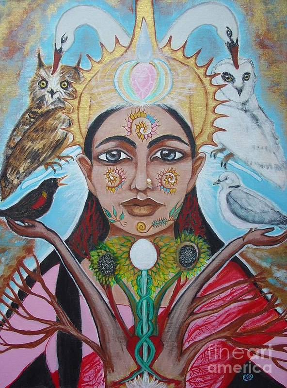 Goddess Art Print featuring the painting The Messenger by Tammy Mae Moon