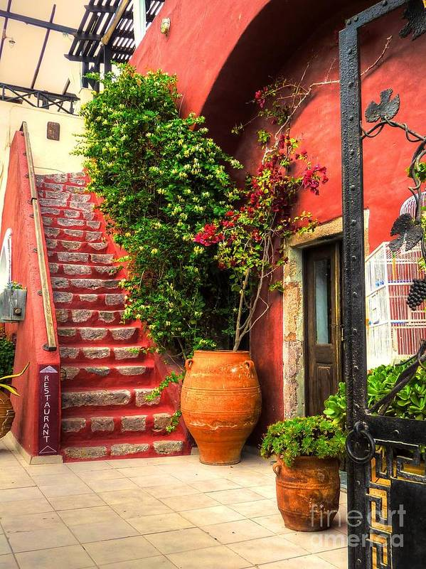 Doorways Art Print featuring the photograph The Red Staircase by Michael Garyet