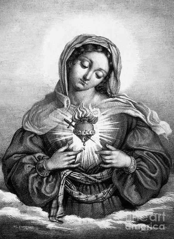 Sacred Heart Drawings | Fine Art America