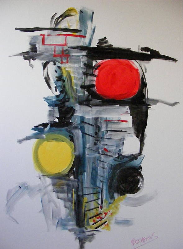 Abstract Art Print featuring the painting The Unfinished Dream by Peter Bethanis