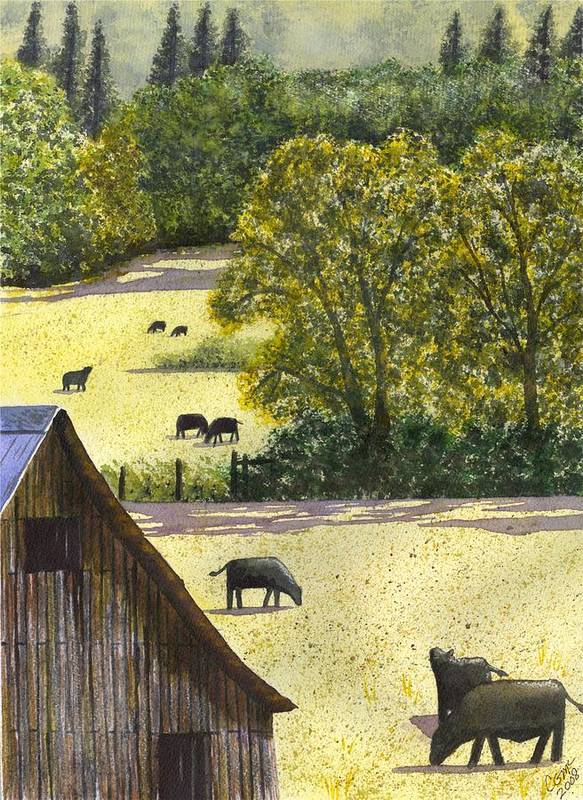 Landscape Art Print featuring the painting The View From My Back Deck by Catherine G McElroy