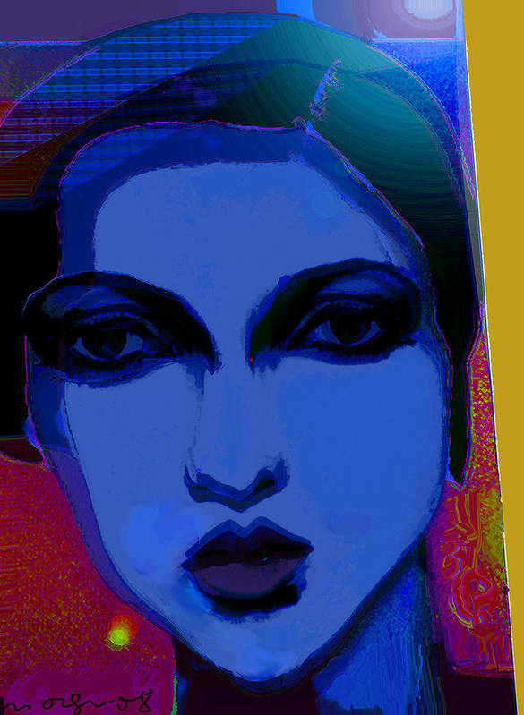 Portrait Art Print featuring the painting The Widow by Noredin Morgan