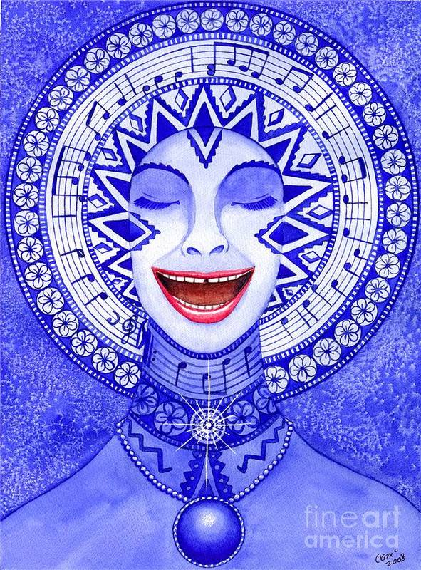 Chakra Art Print featuring the painting Throat Chakra by Catherine G McElroy