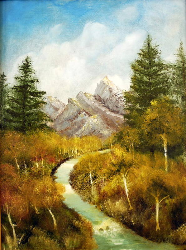 Painting Art Print featuring the painting Thru The Aspens And Up The Mountain by Jack Hampton