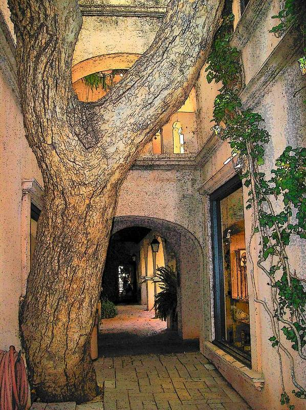 Sedona Art Print featuring the photograph Tlaquepaque Village Tree  by Leo Gordon