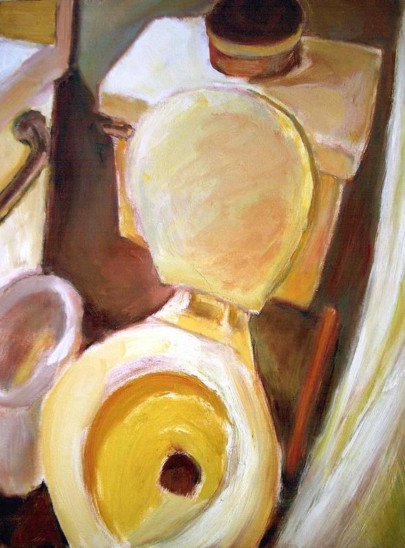 Dornberg Art Print featuring the painting Toilet Of Course by Bob Dornberg