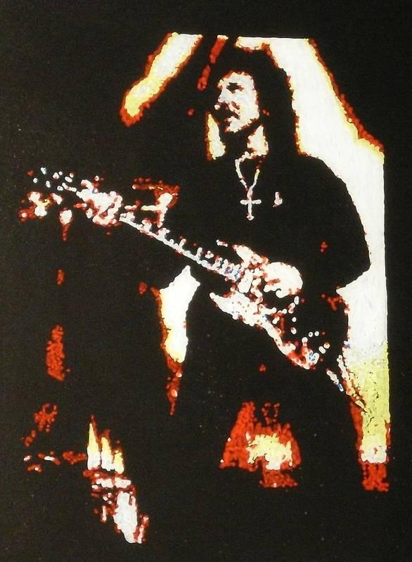 Toni Iommi Art Print featuring the painting Toni Iomni by Grant Van Driest