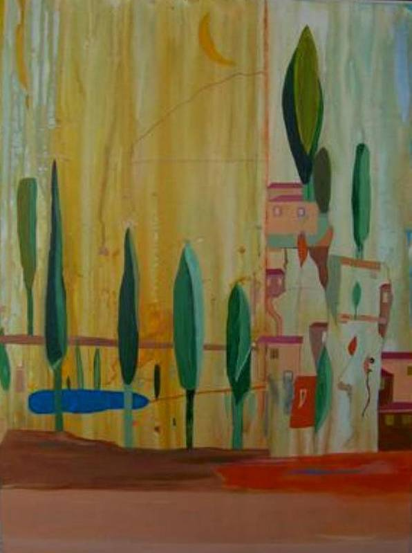 Italy Art Print featuring the painting Toscana Cinque Terre by Michael Puya