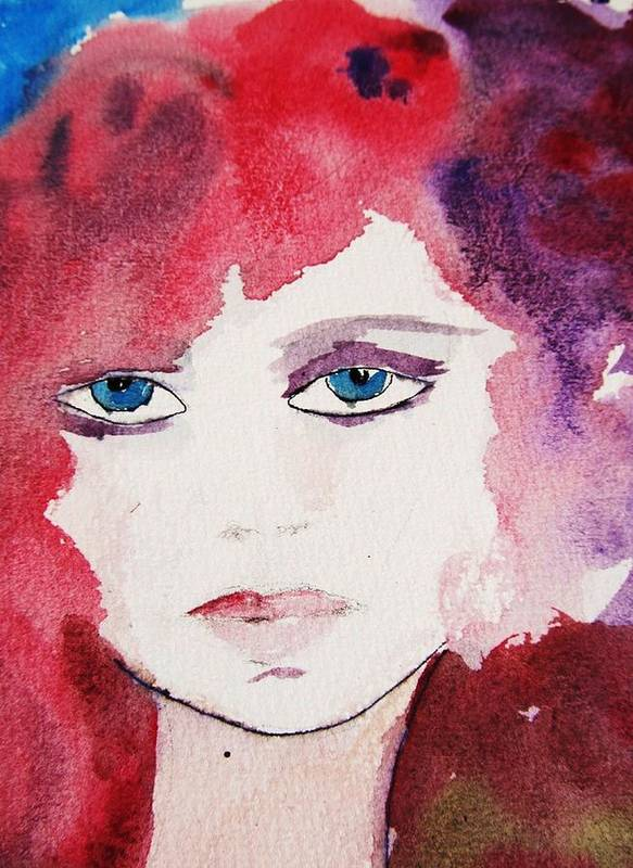 Watercolor Painting Art Print featuring the painting Tueday's Girl by Trilby Cole