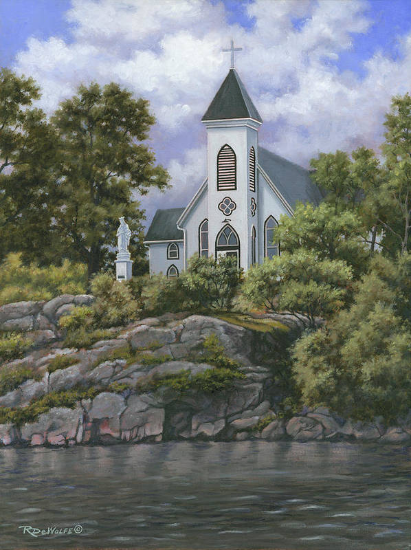 Church Art Print featuring the painting Upon This Rock by Richard De Wolfe