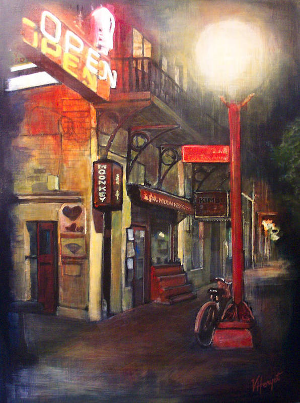 Chinatown Art Print featuring the painting Upstairs At Mrs. Woos by Victoria Heryet
