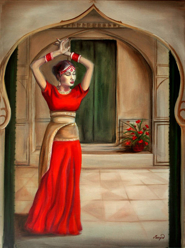 Woman Art Print featuring the painting Usha by Maryn Crawford