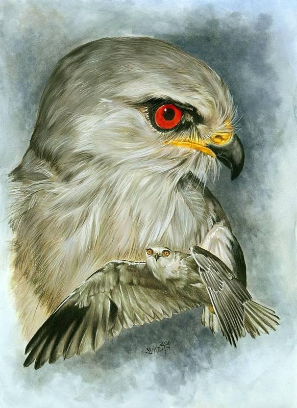 Kite Art Print featuring the mixed media Velocity by Barbara Keith