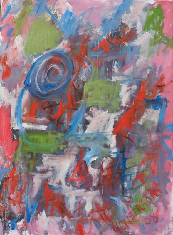 Abstract Art Print featuring the painting Venice Abstract I by Michael Henderson