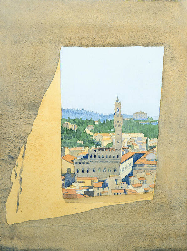 Historic Cities Art Print featuring the painting View From The Duomo In Florence by Ian Newbury