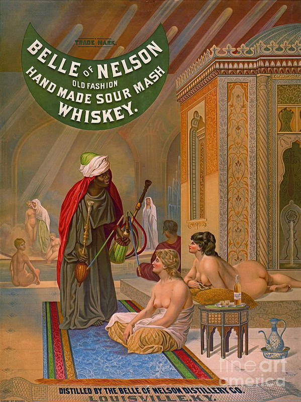 Vintage Whiskey Advertisement 1883 Art Print featuring the photograph Vintage Whiskey Ad 1883 by Padre Art