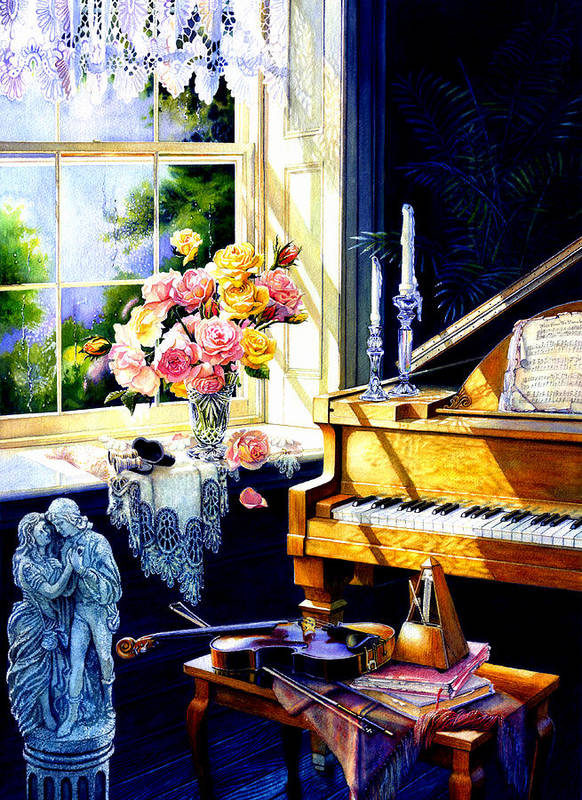 Piano Art Print featuring the painting Virginia Waltz by Hanne Lore Koehler