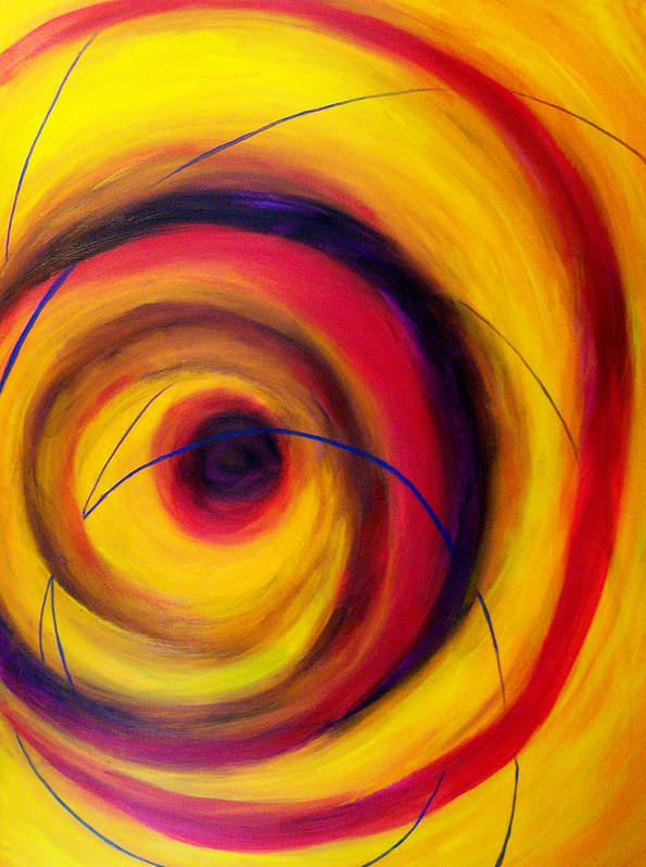 Abstract Art Print featuring the painting Vortex by Patricia R Moore