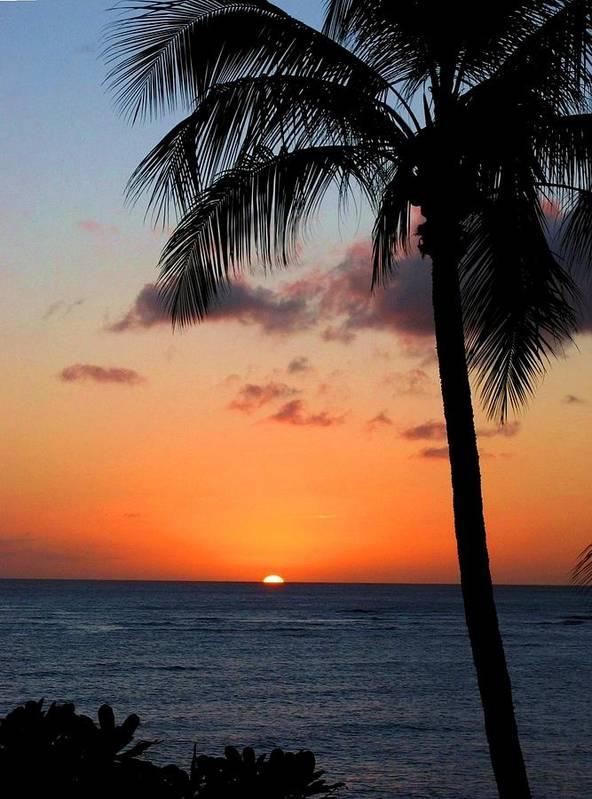 Sunset Art Print featuring the photograph Waikiki Sunset by Dan Pyle