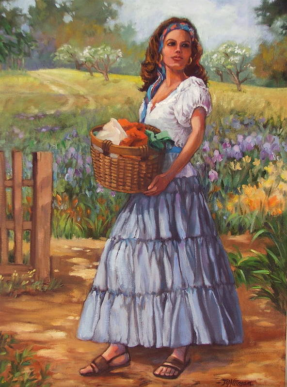 Female Figure Art Print featuring the painting Wash Day by Dianna Willman