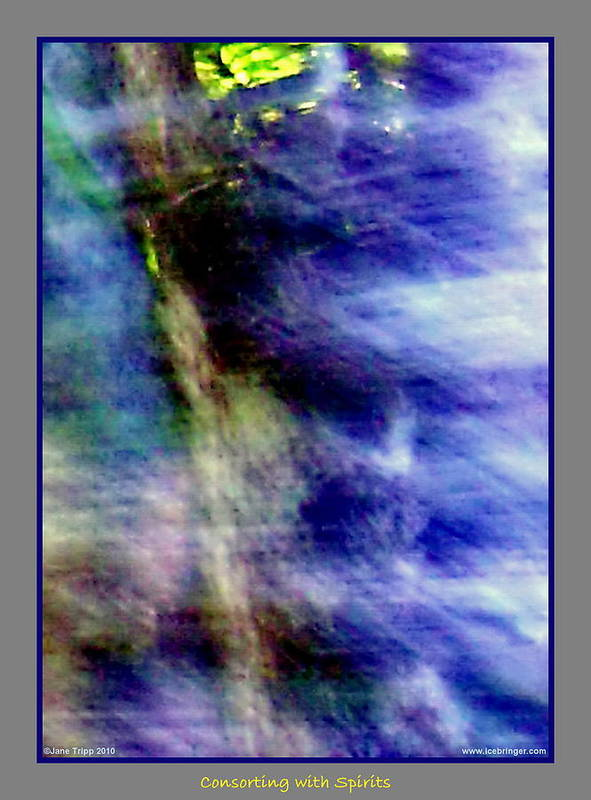 Ghost Art Print featuring the photograph Watching From The Trees by Jane Tripp