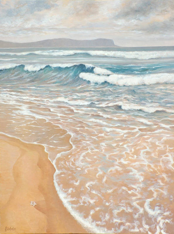 Ekaterina Mortensen Art Print featuring the painting Waveline by Ekaterina Mortensen