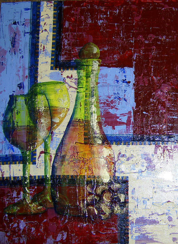 Acrylic Art Print featuring the painting Wine For Two by Terry Honstead