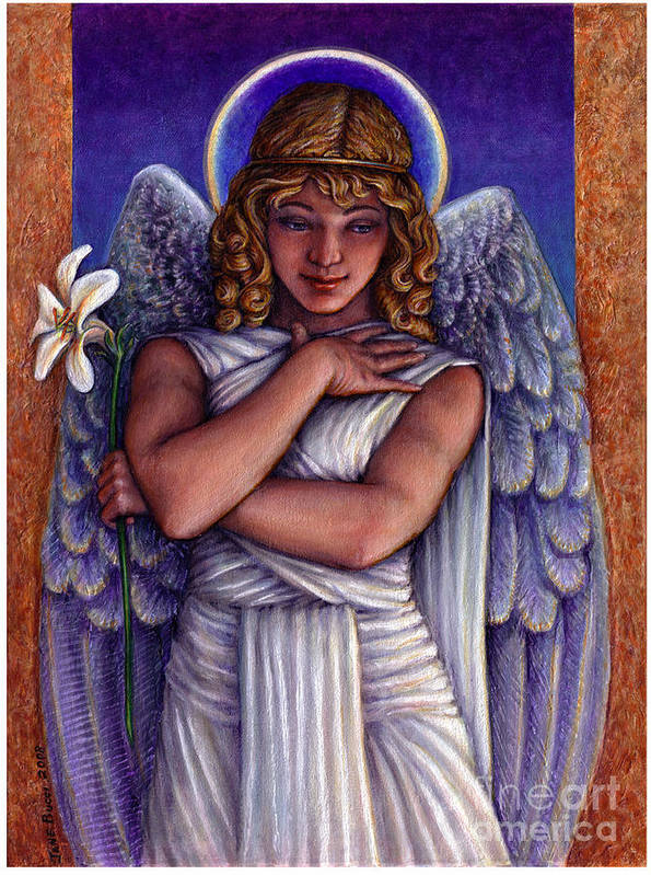 Angel Art Print featuring the painting Witness To Perfection by Jane Bucci