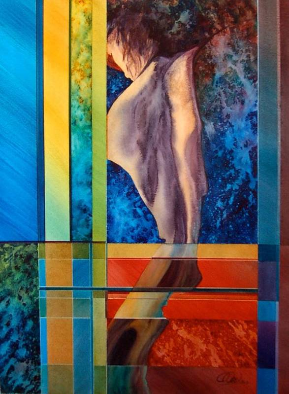 Nude Art Print featuring the painting Your Back by Claude Noel