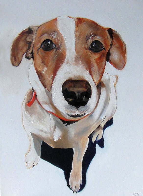 Dog Art Print featuring the painting Zoey by Laura Leigh McCall