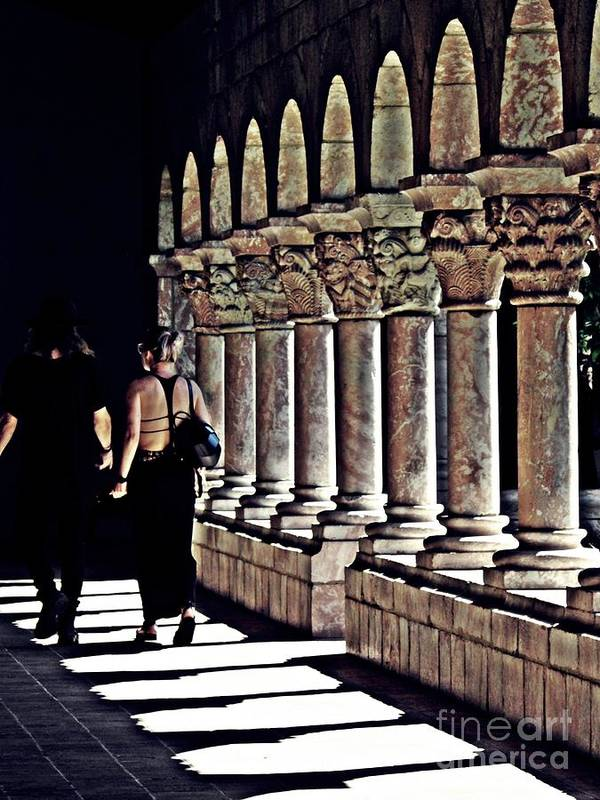 Building Art Print featuring the photograph Columns At The Cloisters 2  by Sarah Loft