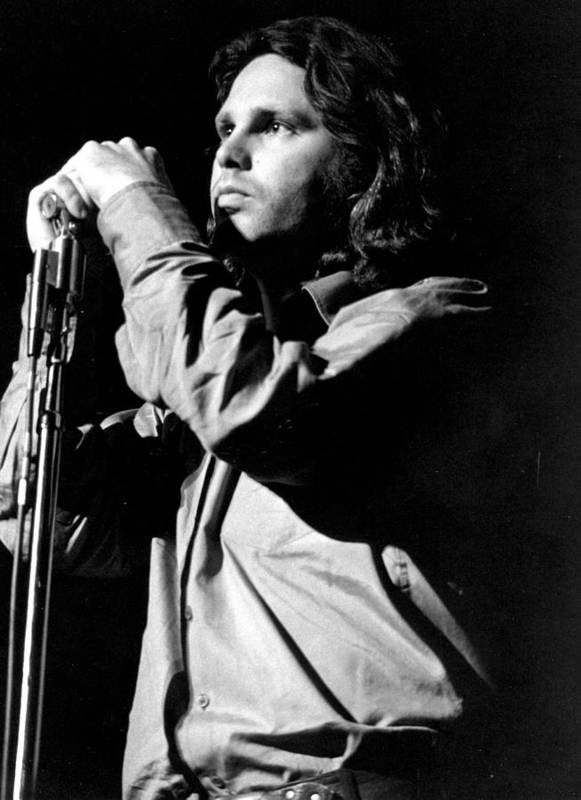 Performance Art Print featuring the photograph Jim Morrison by Tom Copi