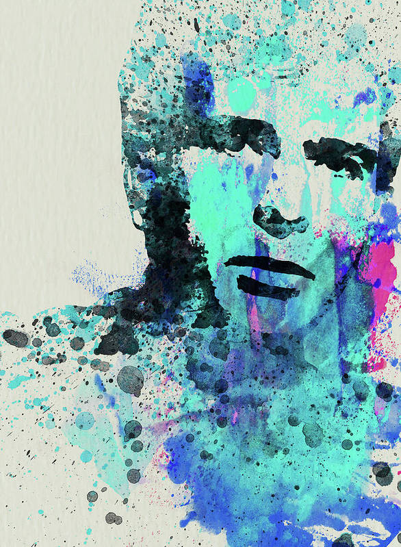 Peter Gabriel Art Print featuring the mixed media Legendary Peter Gabriel Watercolor by Naxart Studio