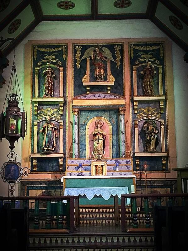 San Gabriel Mission Art Print featuring the photograph San Gabriel Mission No. 2, High Altar by Danielle Rosaria