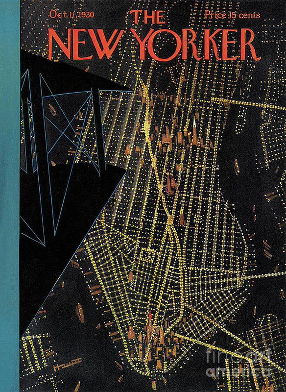 The New Yorker Art Print featuring the painting The New Yorker - October 11th, 1930 by Prar Kulasekara