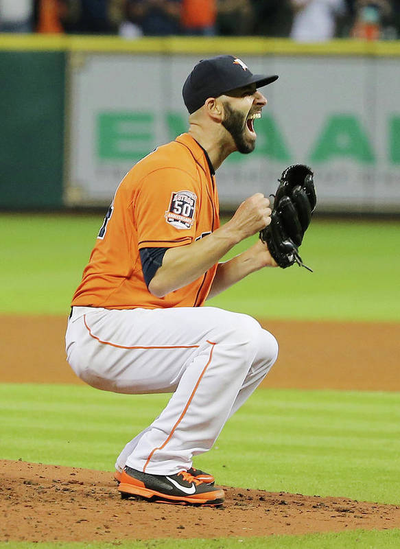 People Art Print featuring the photograph Mike Fiers by Scott Halleran