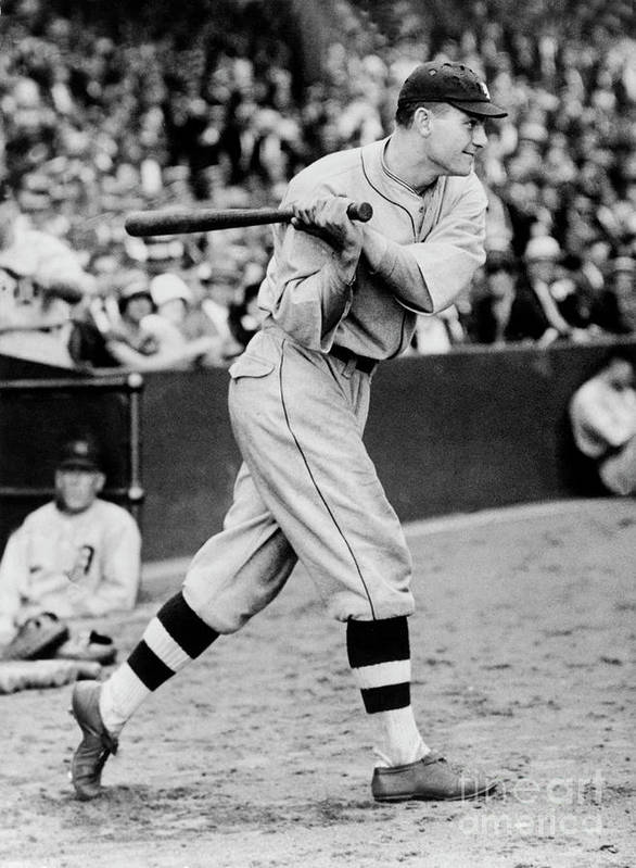 People Art Print featuring the photograph Heinie Manush by National Baseball Hall Of Fame Library