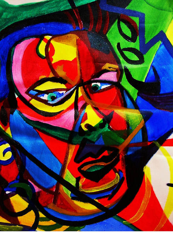 Man Art Print featuring the painting The Confused Man by Arianne Lequay