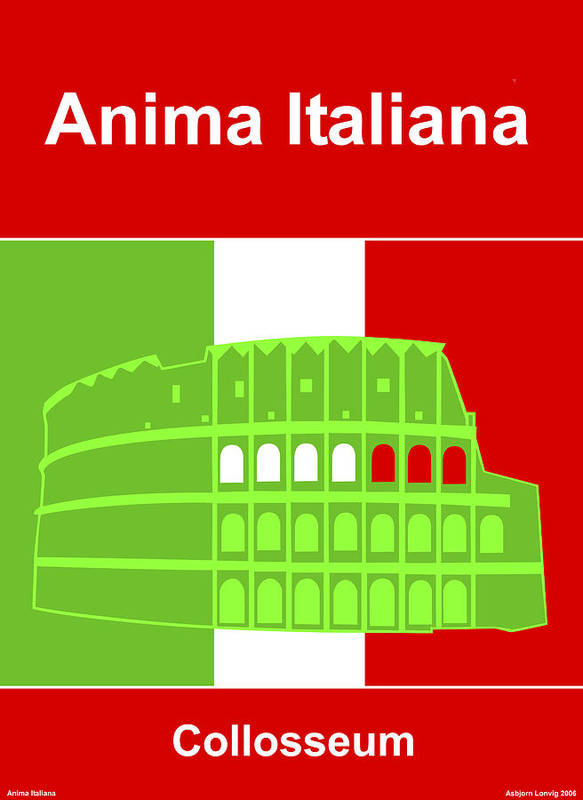 Anima Italiana Art Print featuring the digital art Anima Italiana by Asbjorn Lonvig
