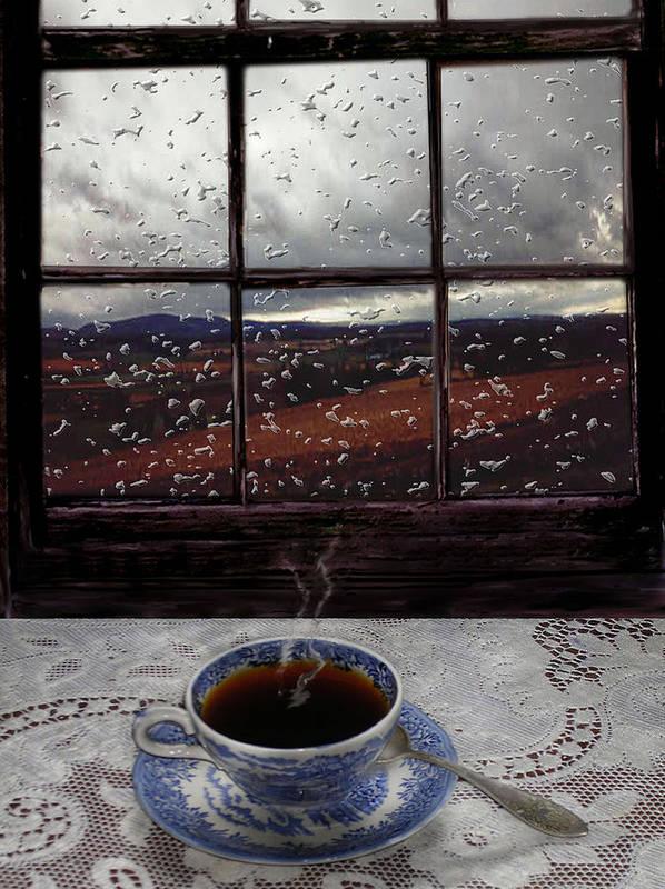 Landscape Art Print featuring the digital art Mornings Promise by Evelynn Eighmey