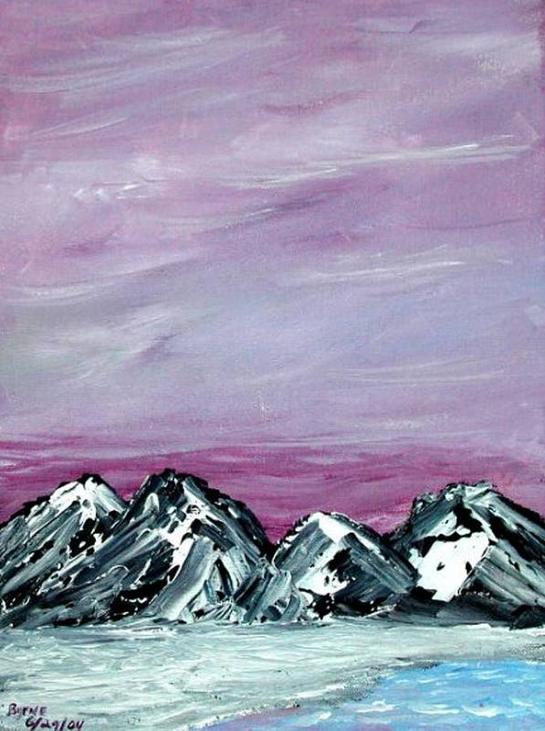 Landscape Art Print featuring the painting Nevada Sky by Margie Byrne
