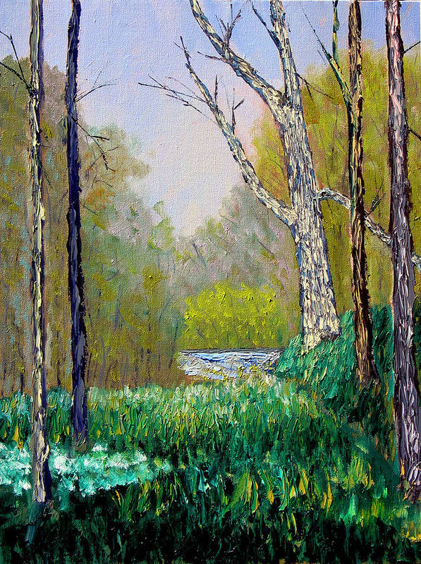 Trees Art Print featuring the painting Park Meadow by Stan Hamilton