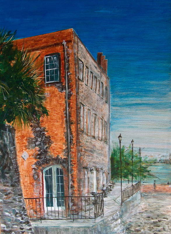 Savannah Art Print featuring the painting River Street by Pete Maier