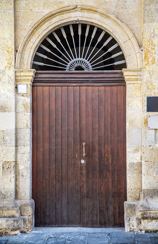 Handle Art Print featuring the photograph Door From Sicily by Boggy22